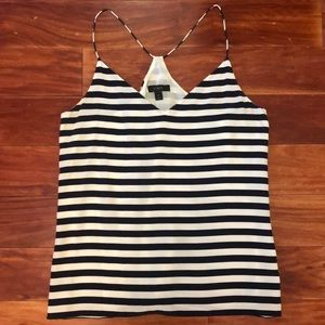 JCrew Striped Silk Cami